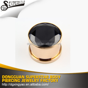 Zircon flesh tunnel piercings , ear tunnel , ear tunnel plug