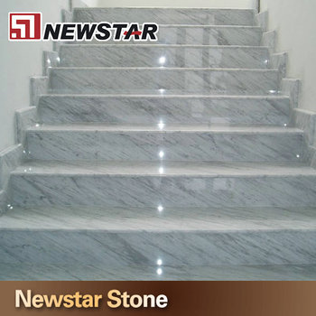 Delightful Carrara White Marble Stair Tread,interior Stair Treads,marble Stair Step