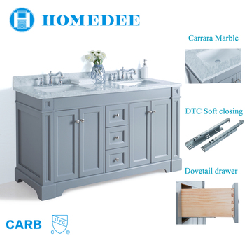 2018 Homedee Modern Wholesale White Bathroom Cabinets With
