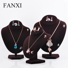 FANXI 직접 공장 China Multi-functional 또 <span class=keywords><strong>귀걸이</strong></span>랑 링 마네킹 Necklace <span class=keywords><strong>디스플레이</strong></span> Model Gray 벨벳 Jewelry Display 바스트