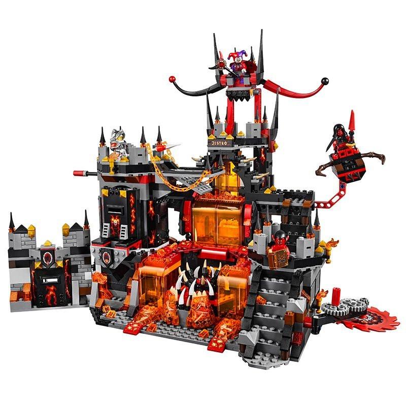 UKLego Nexo Knights Axl Jestros Volcano Lair Combination Marvel Building Blocks Kits Toys.