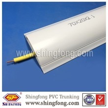 High Performance PVC Arc Floor Trunking Size 70x20mm for Protecting Cable Wall Mounted