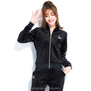 Women Fitness Tracksuit Zipper Jacket and Pants Sets Women Workout Clothes Running Jogging Sport Suit Lover's Clothes