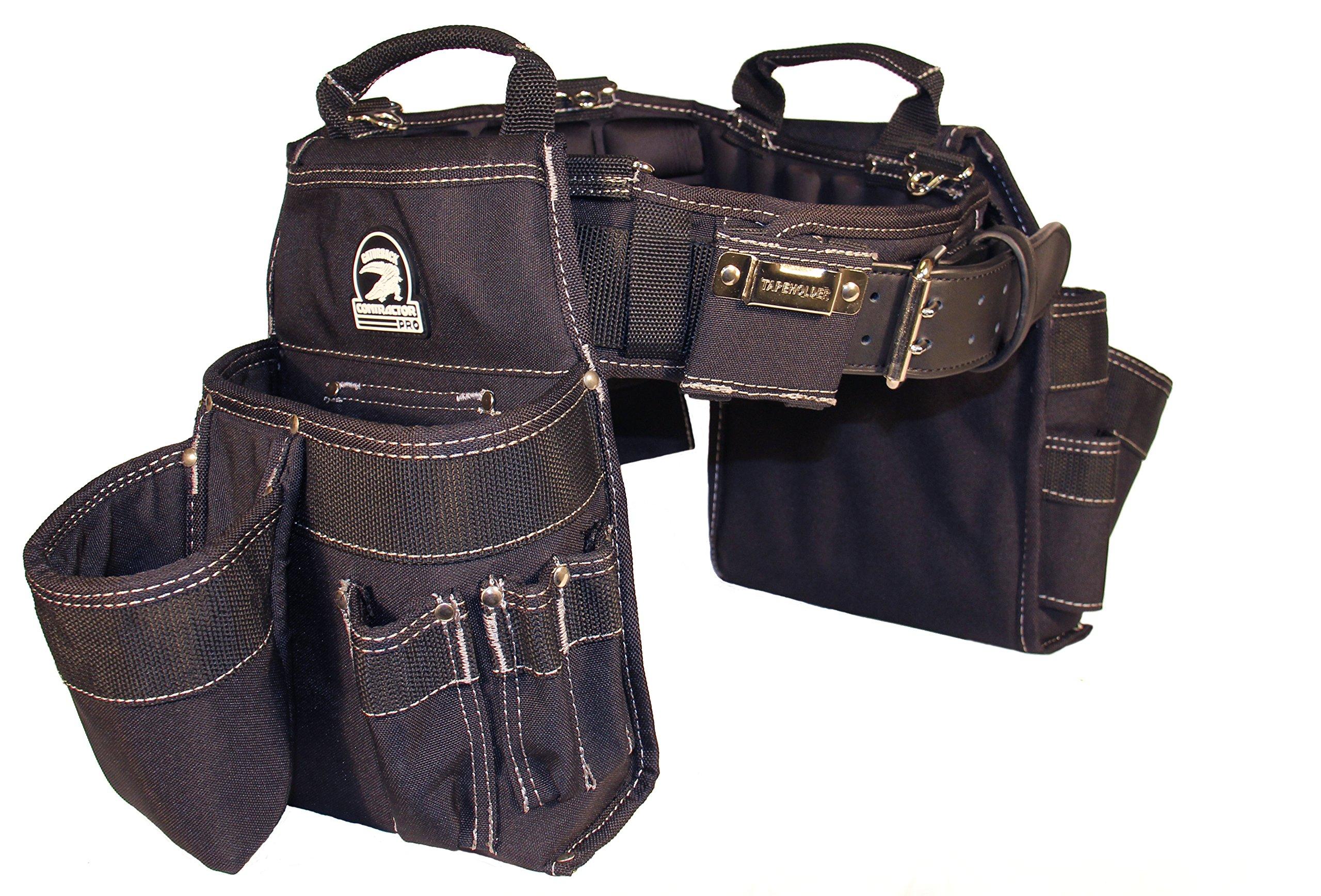 Gatorback Professional Carpenter's Tool Belt Combo w/Air-Channel Pro Comfort Back Support Belt. (Large 36-40 Inch Waist)