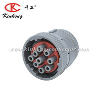 9 pin Gray deutsch waterproof automotive wire connector HD16-9-96S