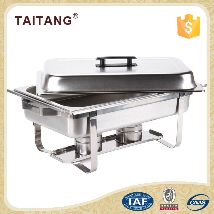 Economy chafer dish best selling items 1/1 size indian copper chafing dishes