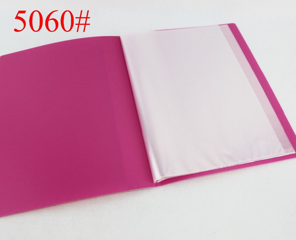 China wholesaler A4 PP 60 Pockets clear plastic book cover display book sheet protector presentation folder