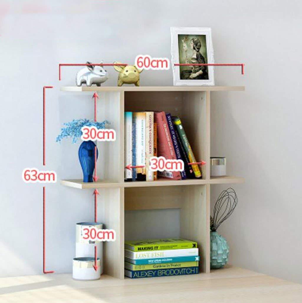 WERT wall bookshelves Simple Desktop Shelf Creative Bookshelf On The Table Shelf Simple Modern Desk Incorporated Small Bookshelves flower shelves (Size : L60cmh63cm)