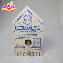 2016 new fashion funny children wooden bird house W03B049