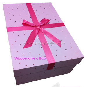 Lace Cross Back Chiffon Beach Wedding Dress Packaging Boxes