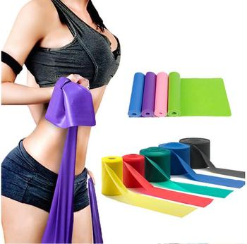 logo Super Exercise Band 7 ft. Long Resistance Bands. Flat Latex Free Home Gym Fitness Equipment For Physical Therapy,