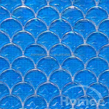 fish scale mosaic pattern Mosaic Glass Pool Spa Blue for swimming pool tile