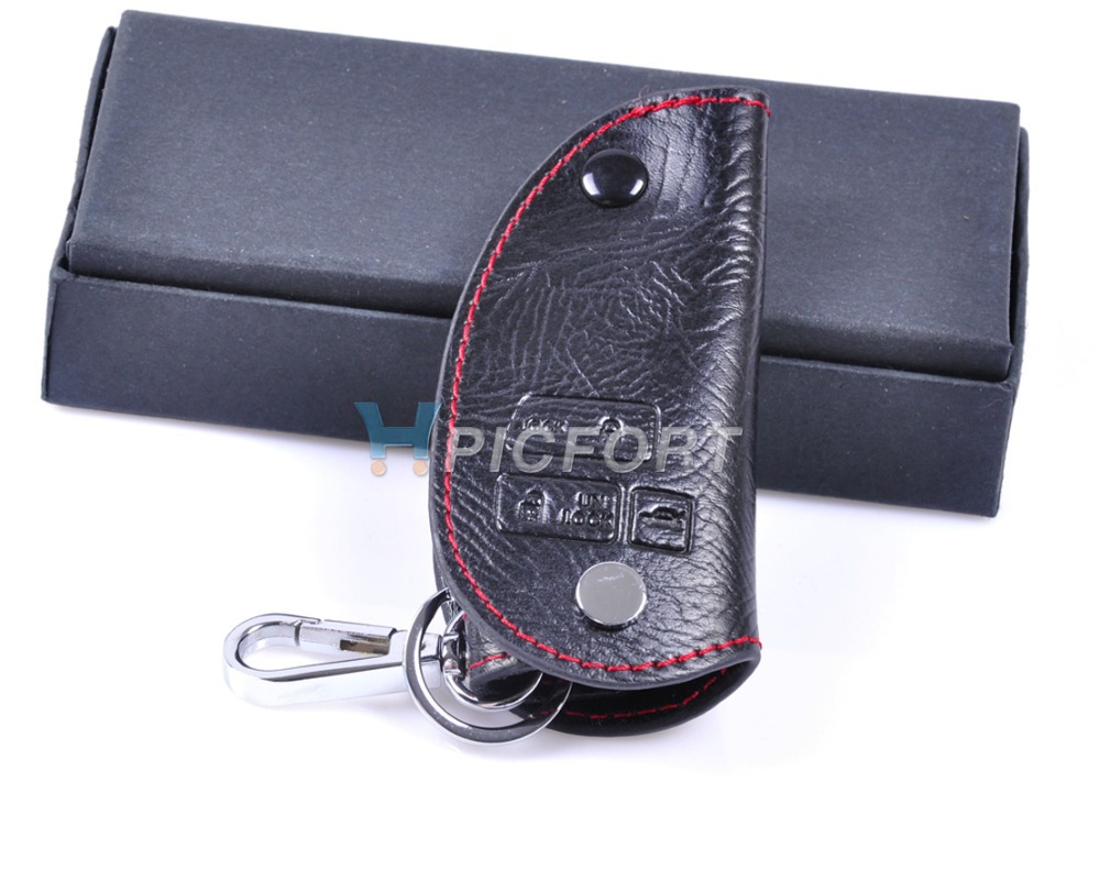 Free shipping  # Genuine Leather Smart Remote Key Case Cover for Lexus ES 300 330 RX 300 330 350 GX GS LX IS LS SC 3B - CA00085