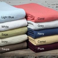 100% cotton woven throw blanket