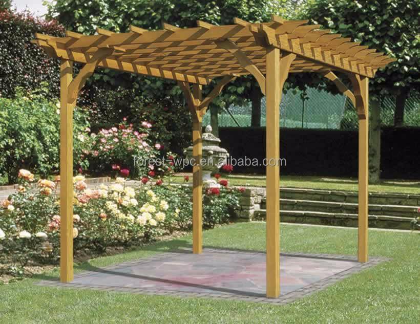 Toile extérieure gazebo pergola pour un repas en plein air en plein air gazebo bois Arches  # Toile Pour Pergola En Bois