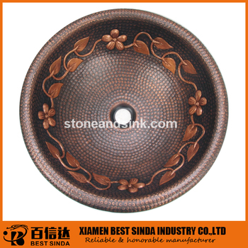 Artisan Design Counter Top Copper Sinks/kitchen Appliances