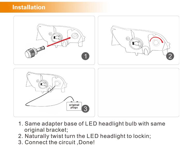 a336 cob h11 led headlight h1 h3 h7 cor led headlight h11hb3 hb4 car head light