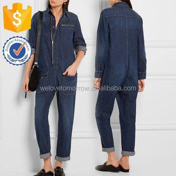 53fffb1c940d New Design Ladies Long Sleeve Denim Jumpsuits Manufacture Wholesale Fashion  Women Apparel(TS0050J)