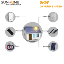 SUNGROW 5KW micro inverter solar panels system panel 250w 10kwp from SUNHOME