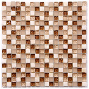 Top quality mirror glass glitter mosaic tile sheet for wall backsplash