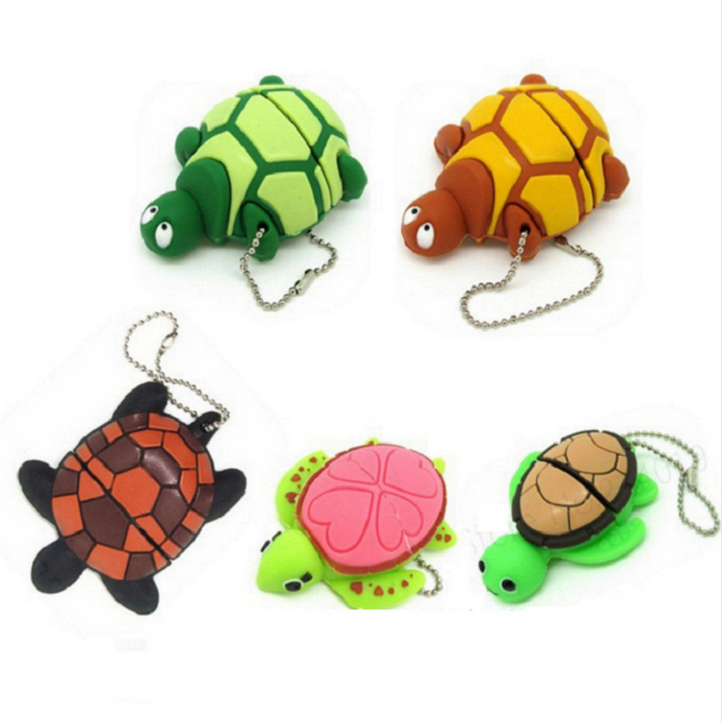 Turtle shape PVC usb 2.0 16gb flash disk wristband on sale