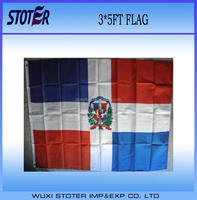 custom cheap 100% polyester 3*5FT Dominican Republic Country Flag