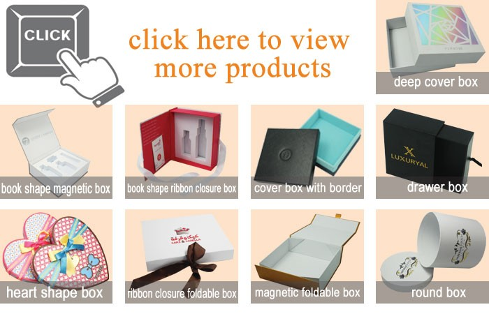 Custom Luxury Cardboard Paper Drawer Style Gift Packaging Box