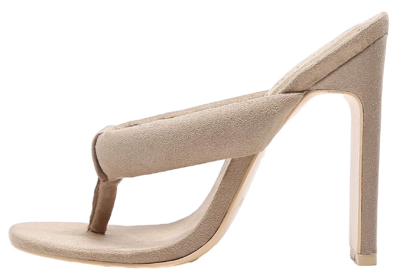 c5b35ee6d52 Get Quotations · Mackin J 254-3 Velvet Thong Open Toe Slip On Slide Mules