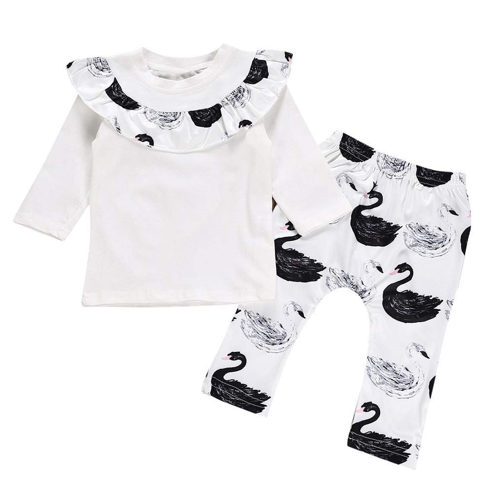 Jchen TM Newborn Baby Boy Girl Hooded Coat Tops+Striped Pants Legging Outfits Clothes Set For 0-18 Months