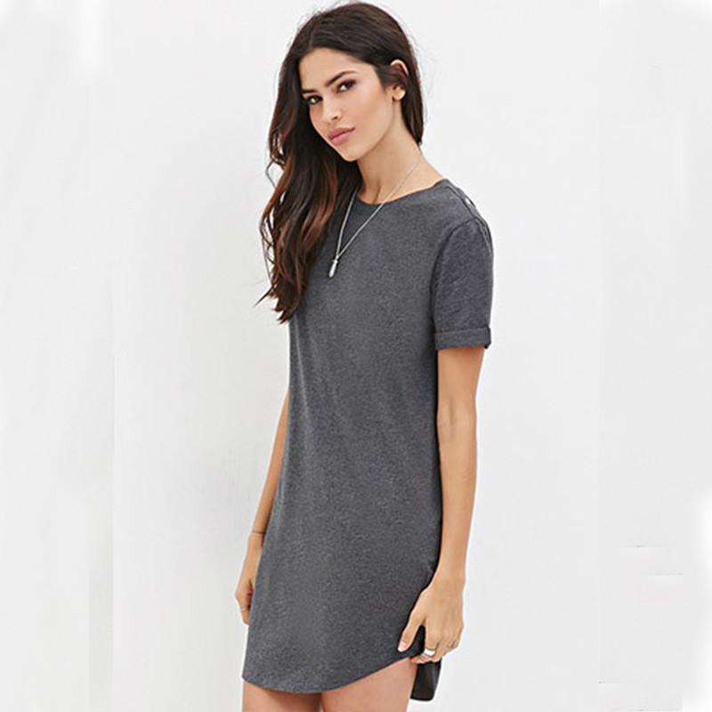 2bc6bb807ac64 حار بيع السيدات الغربية أنيقة جنسي قصير كم البسيطة بسيط فستان عارضة المرأة  الذكية عارضة