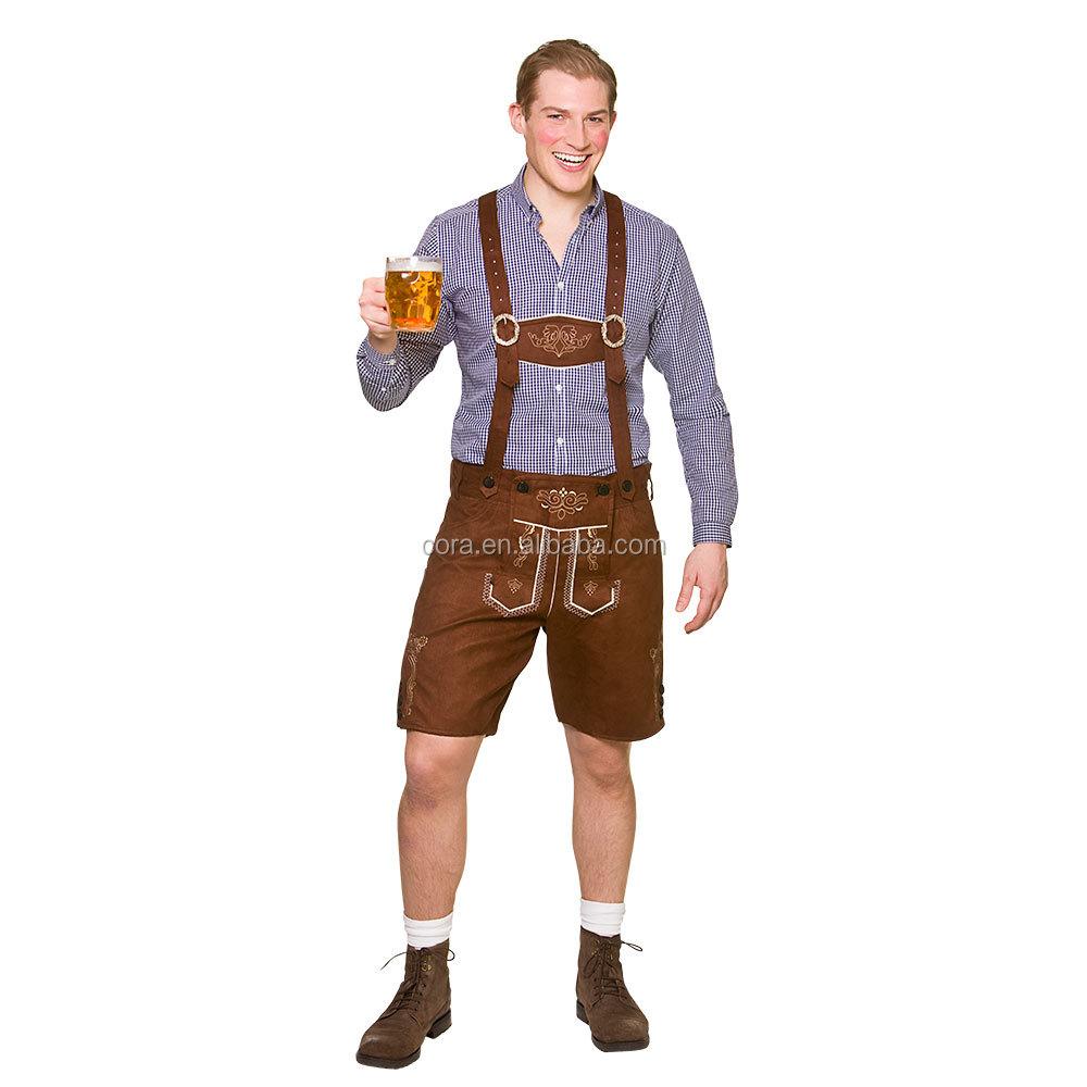 Mens Oktoberfest Costume Bavarian Beer German Country Man Lederhosen Fancy Dress