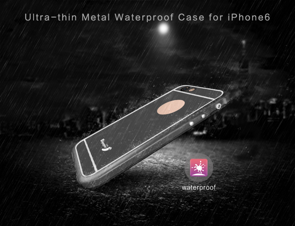 For iPhone 6S Rugged Full Sealed 100% Metal Waterproof Case, Aluminum Shockproof Redpepper Case for iPhone 6S