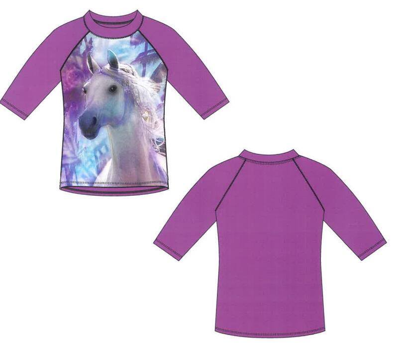 UV Protection Printed Girls Rash Guard Swimwear