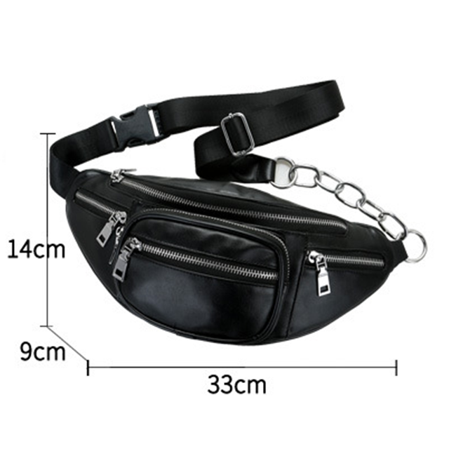 Osgoodway High Quality Soft PU Leather Wholesale Durable Luxury Waist Bag Phone for Hiking Cycling Running