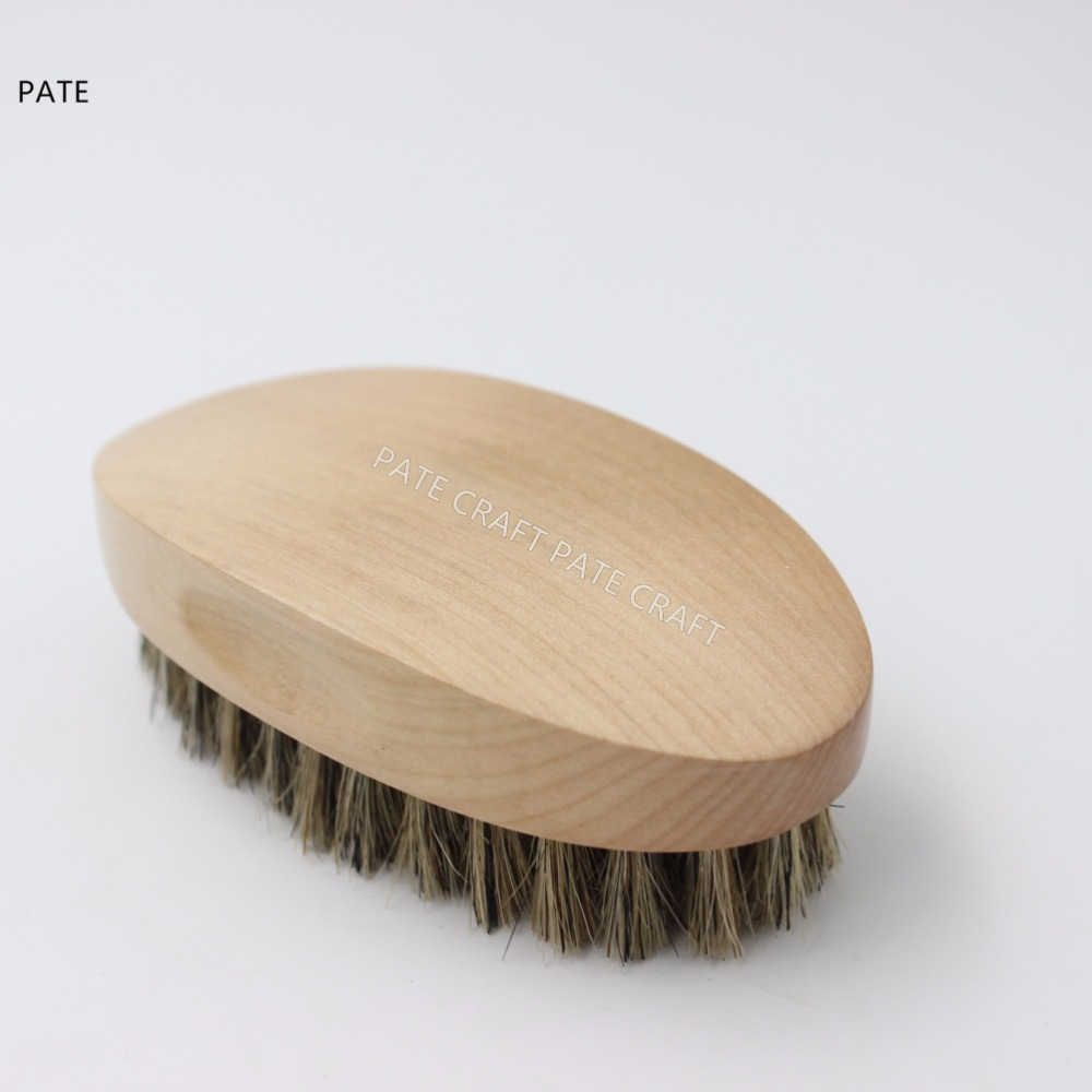 Wood handle Boar Bristle Beard Brush