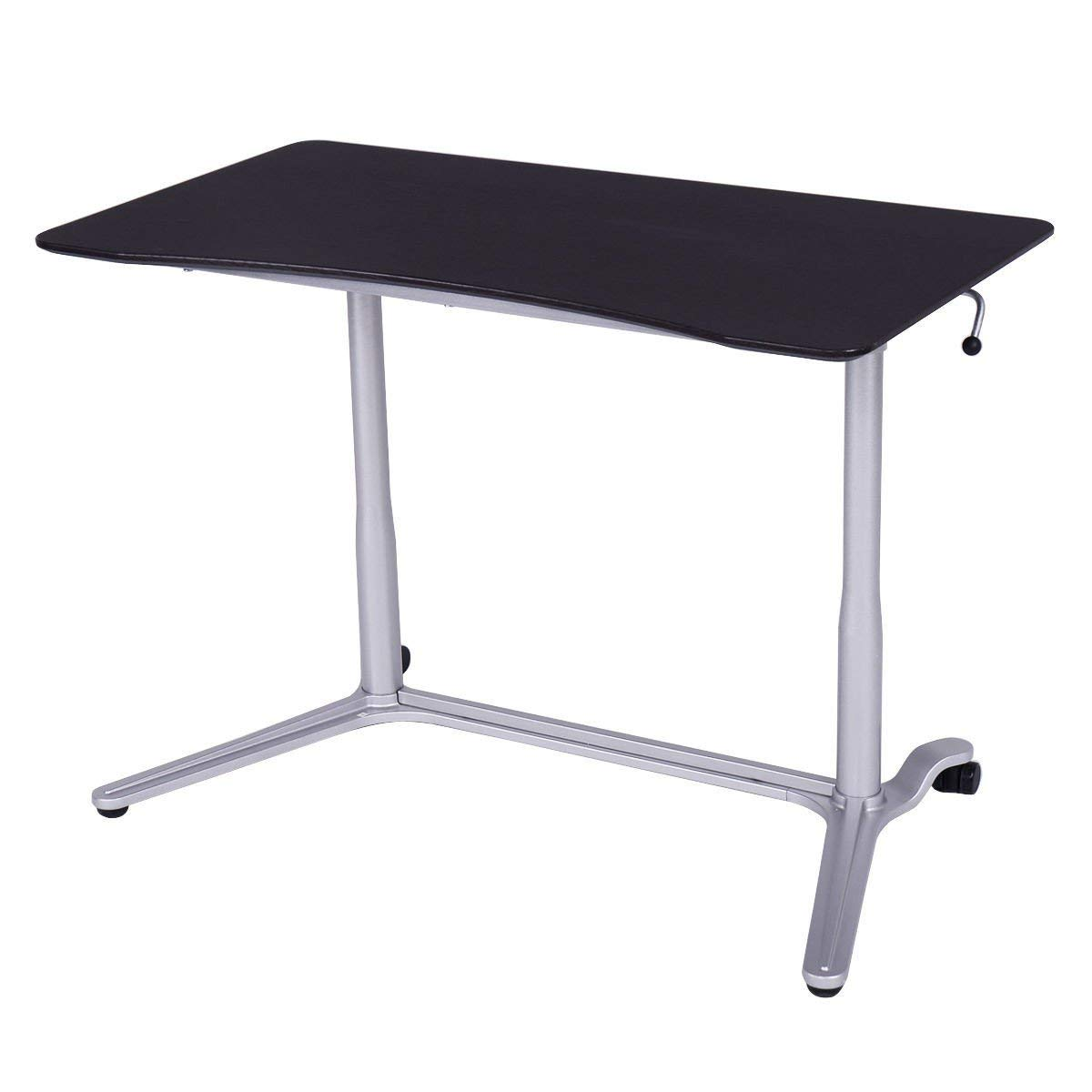 Portable Adjustable Laptop Computer Desk Stand Table - Bundle with Floor Pads