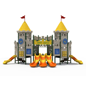 Kids Outdoor Castle Theme Playground Items Large Slide