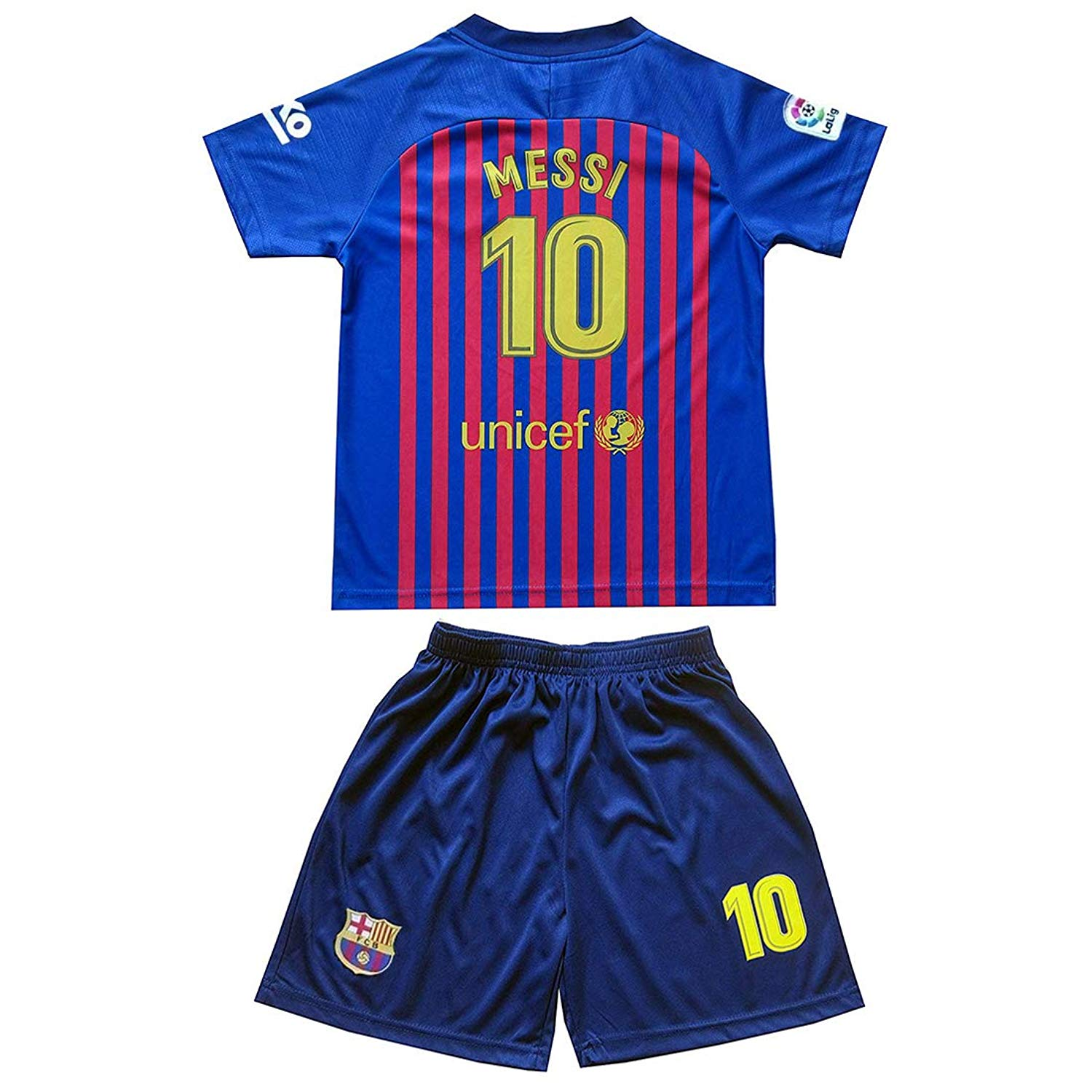 930a4afaa28 Get Quotations · brave Yang Barcelona #10 Messi 2018-2019 Season Youth/Kids  Home Soccer Jersey