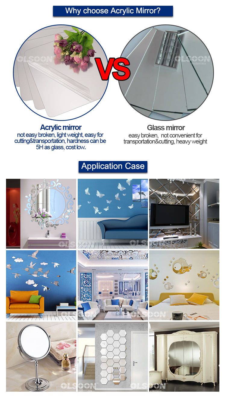 acrylic mirror home decorations wholesaler