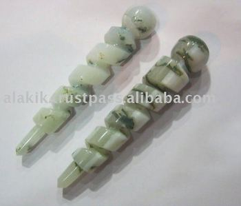 Wholesale Carved Crystal spring type healing wands : White Opal