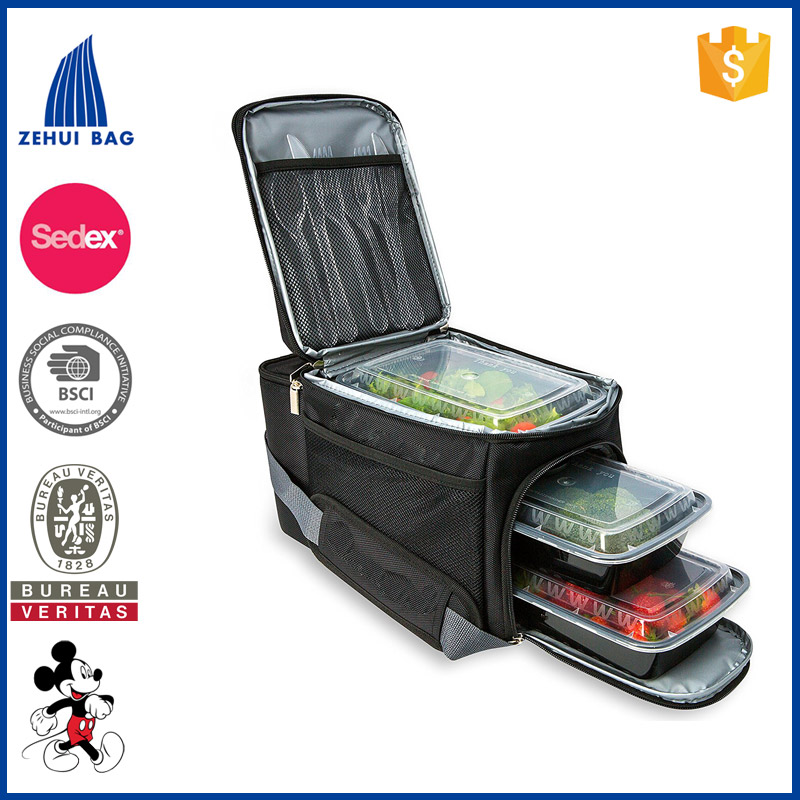 Meal Prep Bag Travel Bag with 10 Bonus Food Containers Insulated Lunch Box Cooler