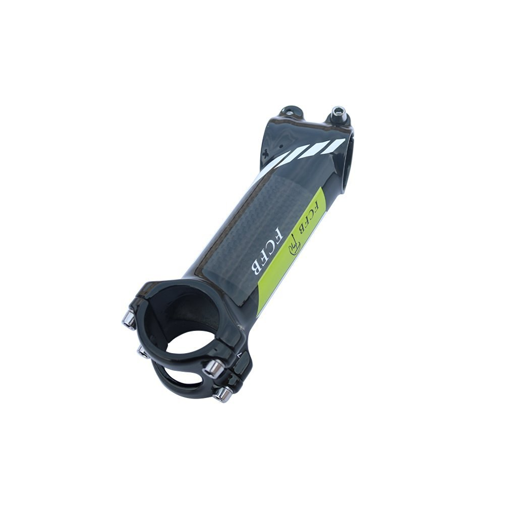 FCFB FW green white stem cycling Aluminum Package Carbon Road stem Mountain Bicycle glossy Stem Bike Stem angle 17 70/80/90/100/110mm 70mm 136g