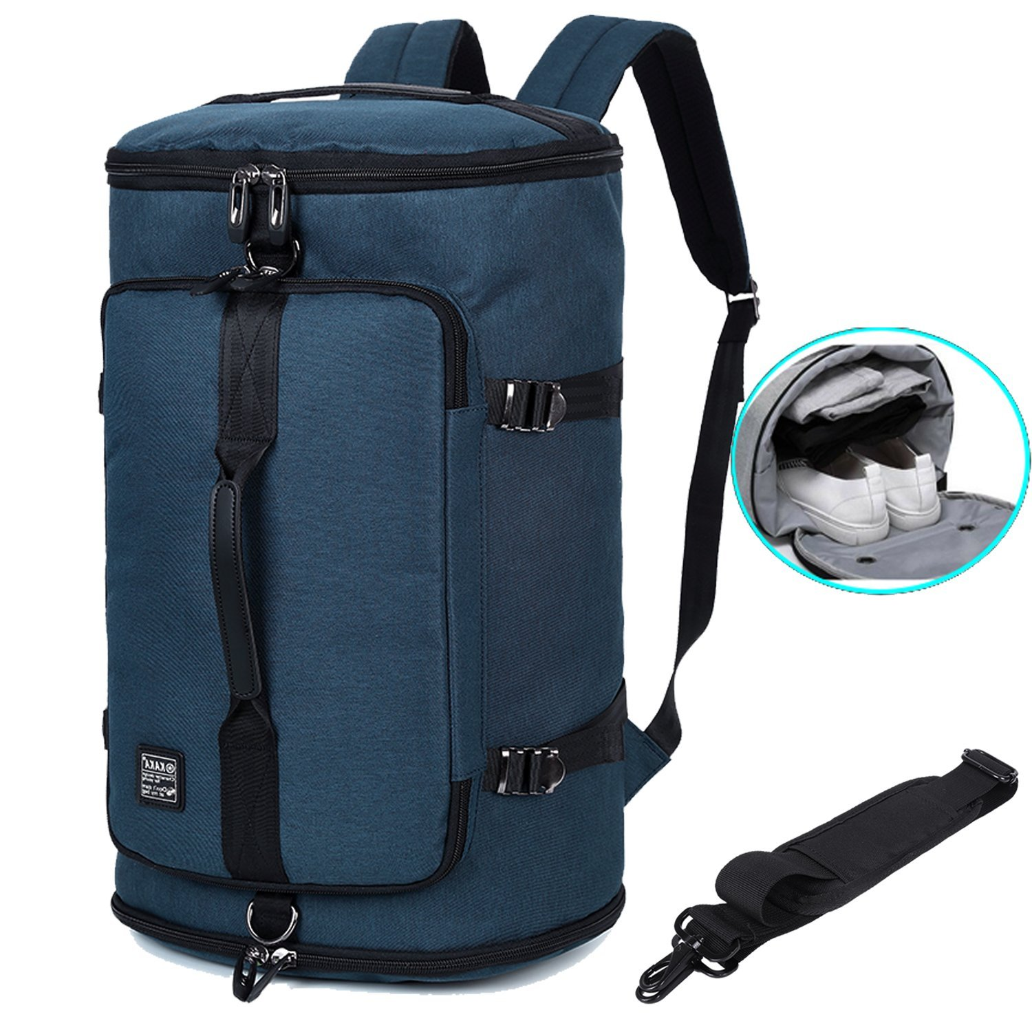 b9578f5ce Get Quotations · Travel Business Laptop Backpack 3-Way Water Resistant Duffel  Luggage Gym Sports Bag with Shoe