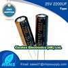 Electrolytic capacitor 25v 2200uf 13mmx21mm