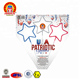 USA PATRIOTIC red white blue color Magnus Product 1.4G UN0336 Consumer indoor star shaped electric sparklers Fireworks