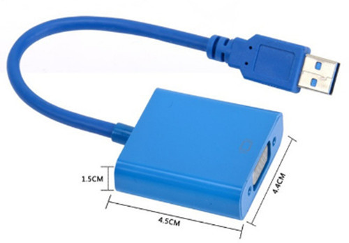 USB 3.0 to VGA adapter Super Speed 1920x1080 PC Laptop to Projector USB 3.0 Graphic Adapter Driver VGA Cable