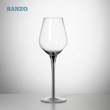High quality lead of free crystal wine glasses black stem