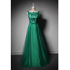 LSQ213 Sleeveless online shopping india natural waist prom dress turquoise long evening gown