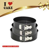 2017 Top selling 3 layer adjustable spring form round shape baking cake pan
