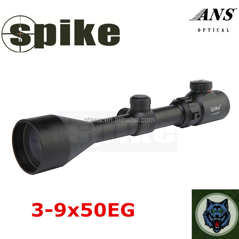 Tactical 3-9X50mm dual illuminated hunting riflescope /3-9x50 black matte finish riflescope thermal for hunting/air gun hunting
